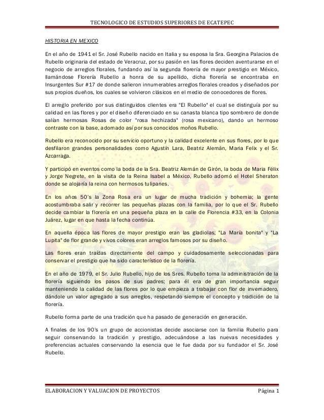 TECNOLOGICO DE ESTUDIOS SUPERIORES DE ECATEPEC HISTORIA EN MEXICO En el año de 1941 el Sr. José Rubello nacido en Italia y...