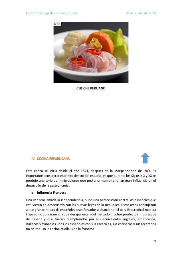 Historia de la gastronomia peruana for Gastronomia francesa historia