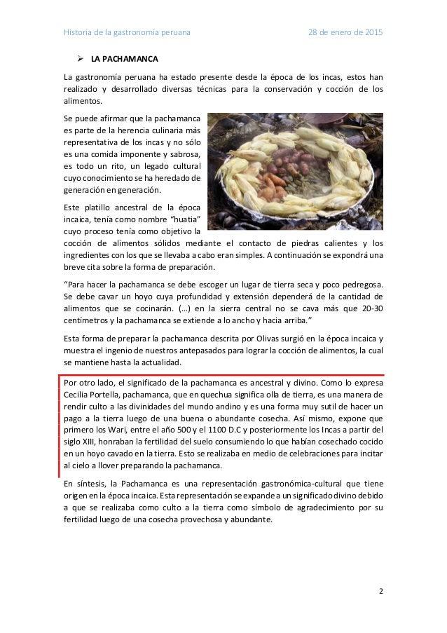 Historia de la gastronomia peruana for Historia de la gastronomia pdf