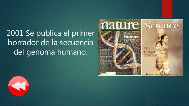 Historia de la genetica for En 2003 se completo la secuenciacion del humano