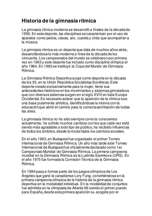 Historia de la gimnasia r tmica for Gimnasia informacion