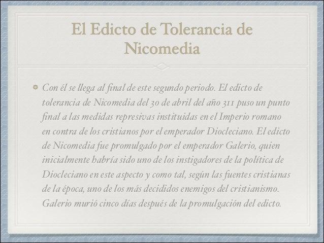 Resultado de imagen para foto del edicto de Nicomedia