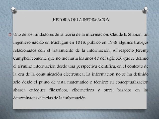 Historia de la informacion Slide 3