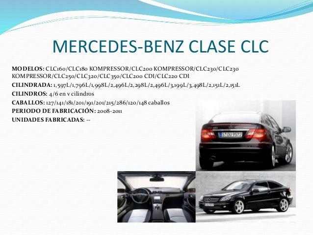 MERCEDES-BENZ CLASE CLC MODELOS: CLC160/CLC180 KOMPRESSOR/CLC200 KOMPRESSOR/CLC230/CLC230 KOMPRESSOR/CLC250/CLC320/CLC350/...