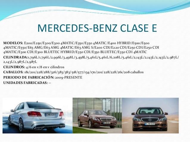 MERCEDES-BENZ CLASE E MODELOS: E200/E250/E300/E300 4MATIC/E350/E350 4MATIC/E400 HYBRID/E500/E500 4MATIC/E550/E63 AMG/E63 A...