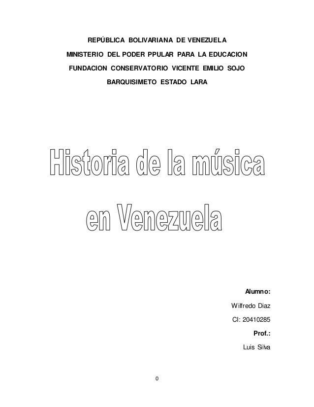 Historia De La Musica En Venezuela