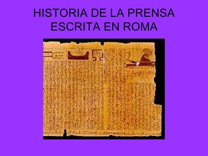 Historia De La Prensa Escrita Slide 2