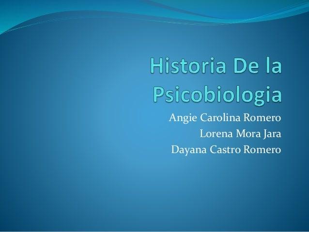 Angie Carolina Romero Lorena Mora Jara Dayana Castro Romero