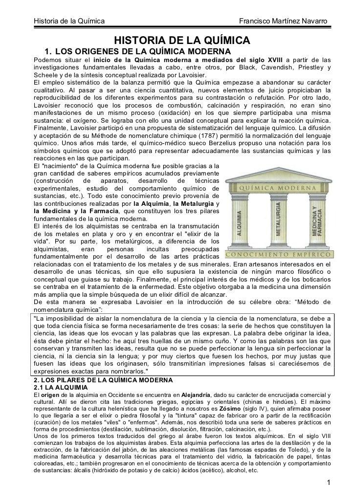 Historia de la Química                                                          Francisco Martínez Navarro                ...