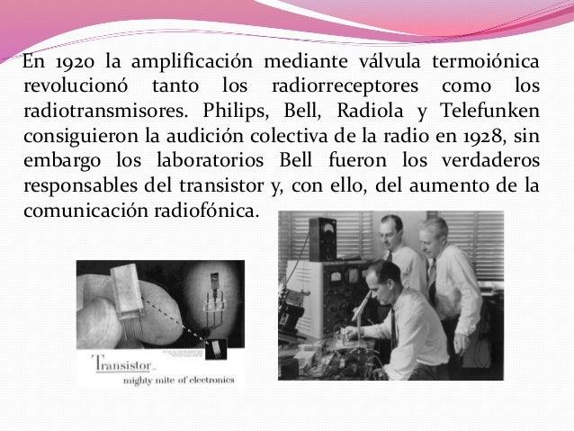  Las  primeras transmisiones para entretenimiento regulares, comenzaron en 1920 en Argentina. La Sociedad Radio Argentina...