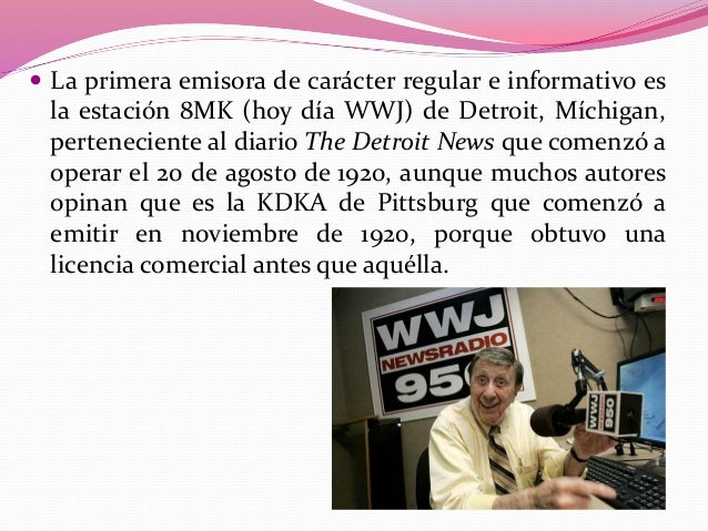  En 1922, en Inglaterra, la estación de Chelmsford,  perteneciente a la Marconi Wireless, emitía dos programas diarios, u...