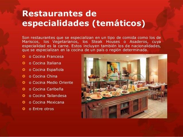 Historia de la restauracion for Tipos de comida francesa