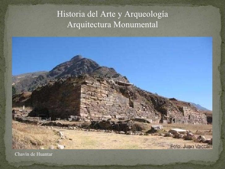 Historia del Arte y Arqueología Arquitectura Monumental Chavín de Huantar