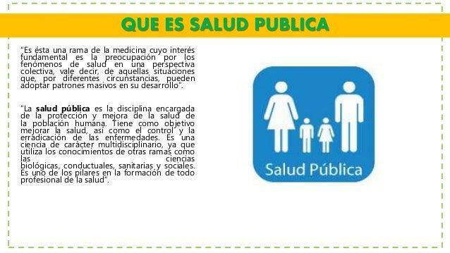 Historia de la salud publica exposicion