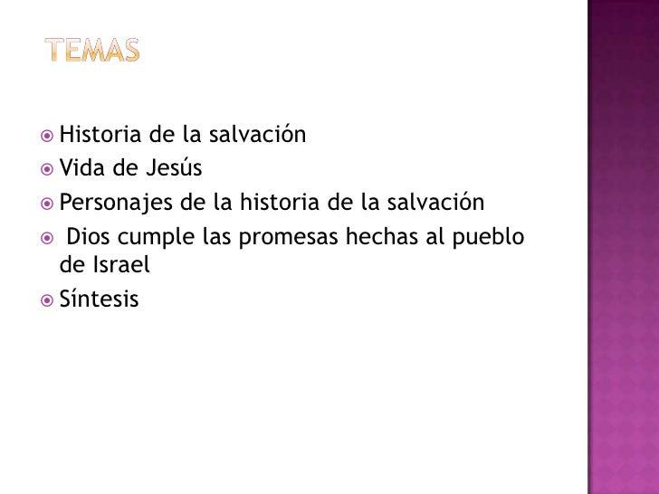 Historia de la salvacion de Dios  Slide 2