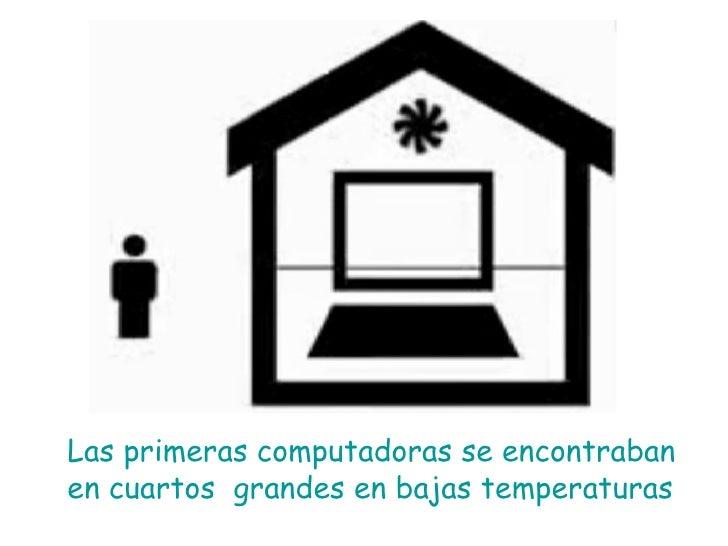 Las primeras computadoras se encontraban en cuartos  grandes en bajas temperaturas