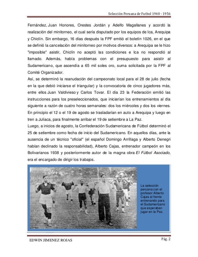 Historia de la selección peruana de fútbol 1940 - 1956 Slide 2