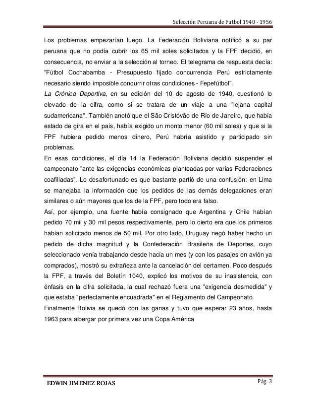 Historia de la selección peruana de fútbol 1940 - 1956 Slide 3