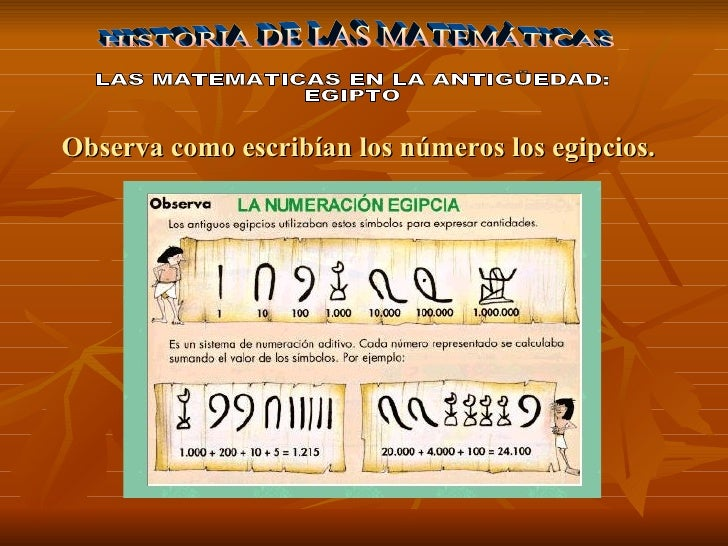 Historia De Las Mates