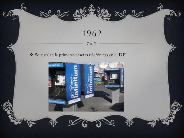 1962   Se instalan la primeras casetas telefónicas en el D.F