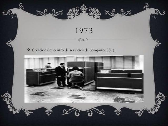 1973   Creación del centro de servicios de computo(CSC)