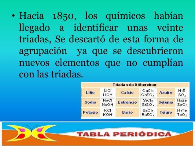 Historia de la tabla peridica los elementos que pertenecen a unatriada poseen propiedades qumicassemejantes 5 urtaz Image collections