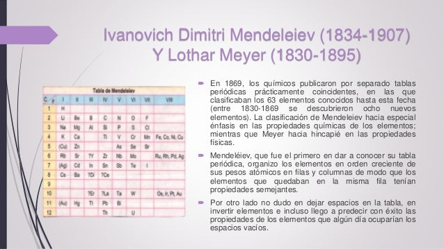 Historia de la tabla peridica claudia l lallico 9 ivanovich dimitri mendeleiev urtaz Image collections