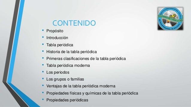 Historia de la tabla peridica microempresarial de soledad 2 contenido propsito introduccin tabla peridica urtaz Choice Image