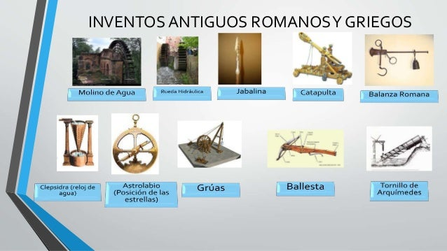 inventos tecnologicos griegos y romanos
