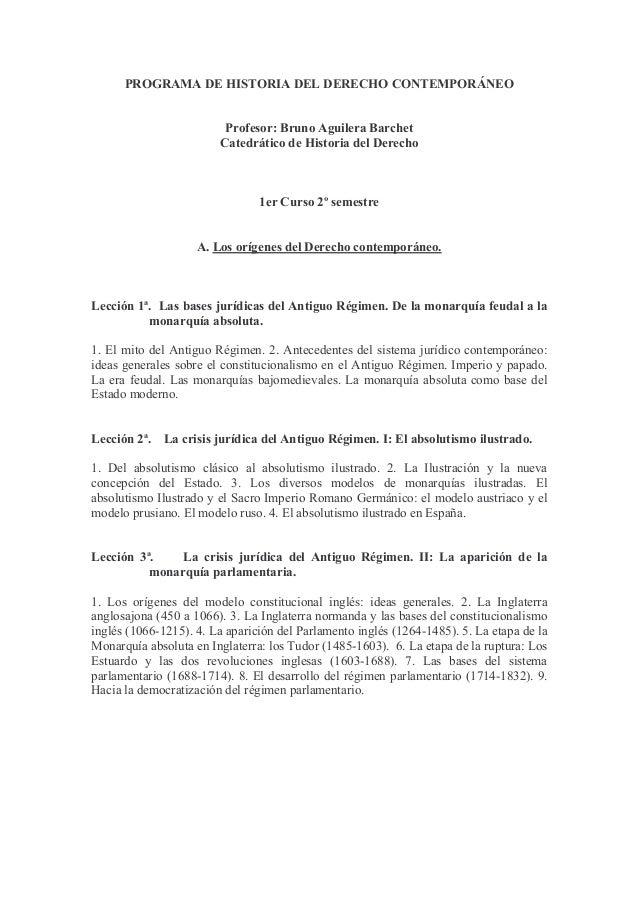 Historia del derecho contemporaneo for Caracteristicas del contemporaneo