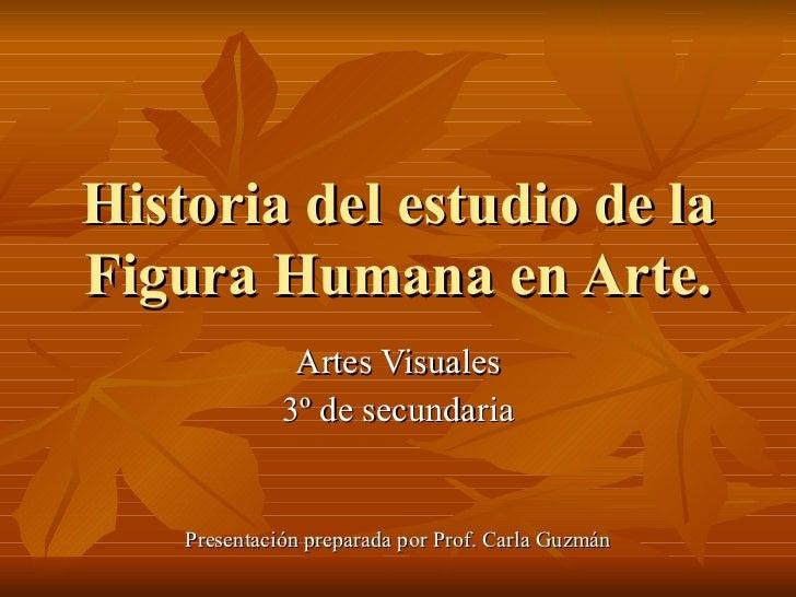 Historia del estudio de laFigura Humana en Arte.               Artes Visuales              3º de secundaria    Presentació...
