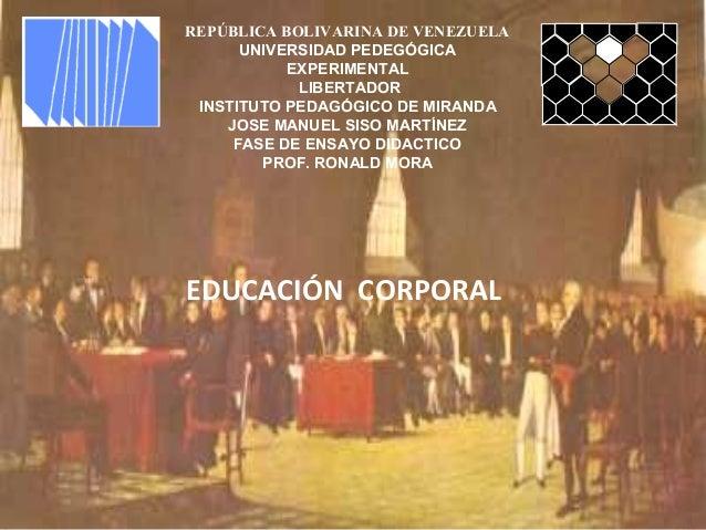 REPÚBLICA BOLIVARINA DE VENEZUELA UNIVERSIDAD PEDEGÓGICA EXPERIMENTAL LIBERTADOR INSTITUTO PEDAGÓGICO DE MIRANDA JOSE MANU...