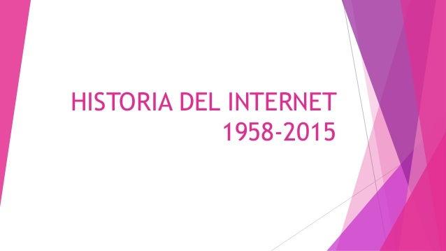 HISTORIA DEL INTERNET 1958-2015