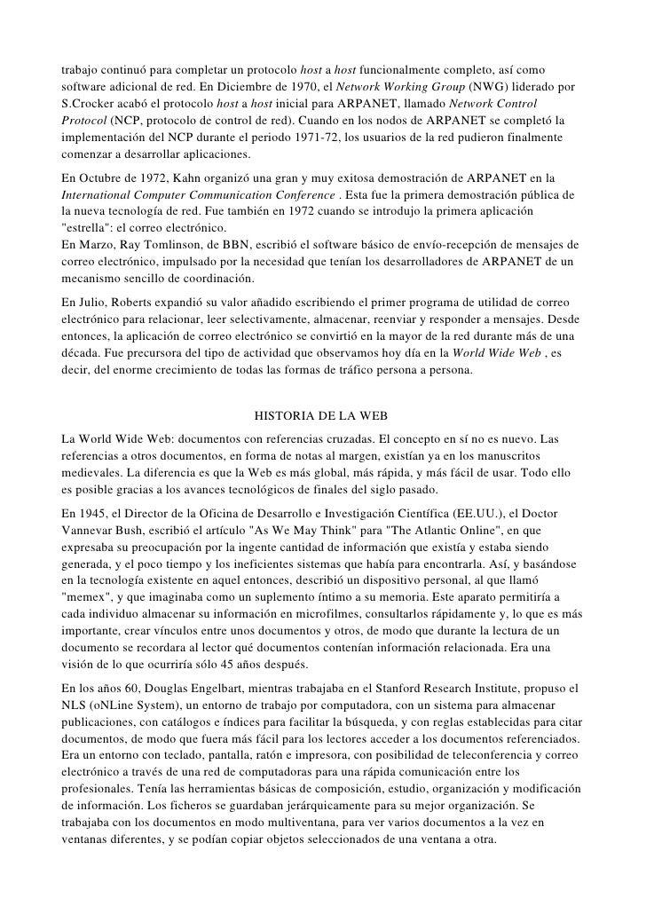 HISTORIA DEL INTERNET E HISTORIA DE LA WEB Slide 3
