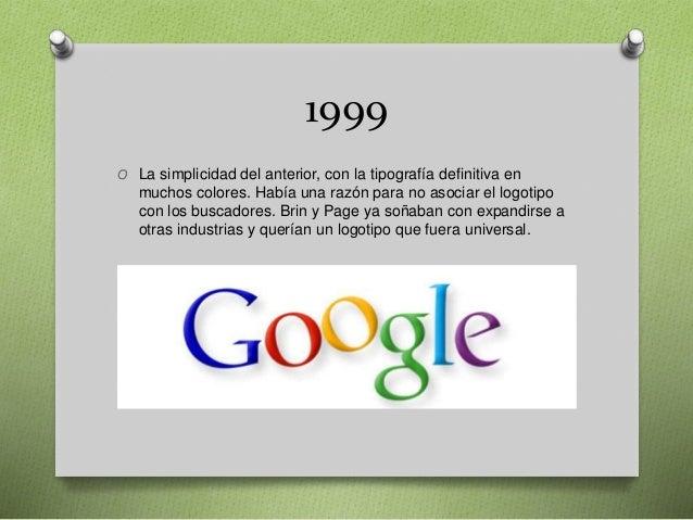 1999 O La simplicidad del anterior, con la tipografía definitiva en muchos colores. Había una razón para no asociar el log...