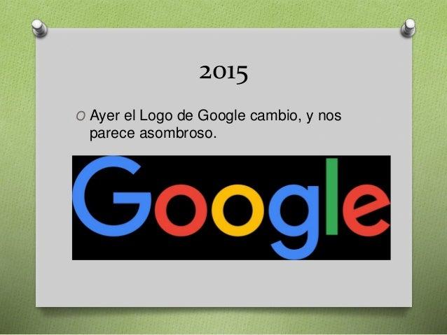 2015 O Ayer el Logo de Google cambio, y nos parece asombroso.