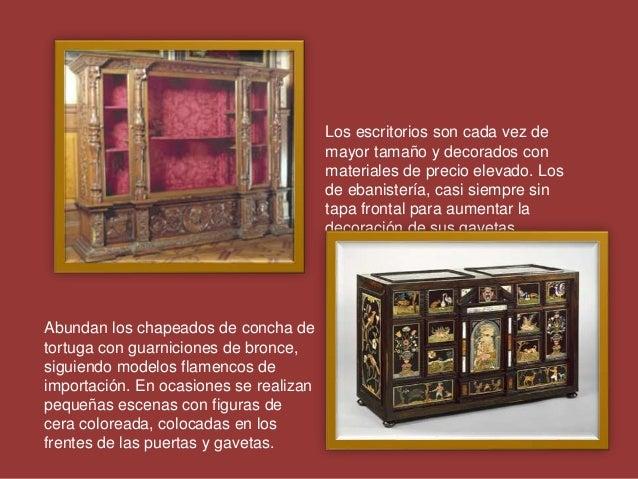 Los escritorios son cada vez de mayor tamaño y decorados con materiales de precio elevado. Los de ebanistería, casi siempr...