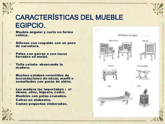 historia del mueble antiguo i On caracteristicas del mobiliario