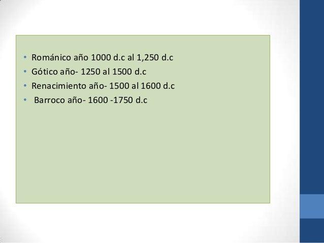 Historia del mueble Gótico y Renacentista Slide 2