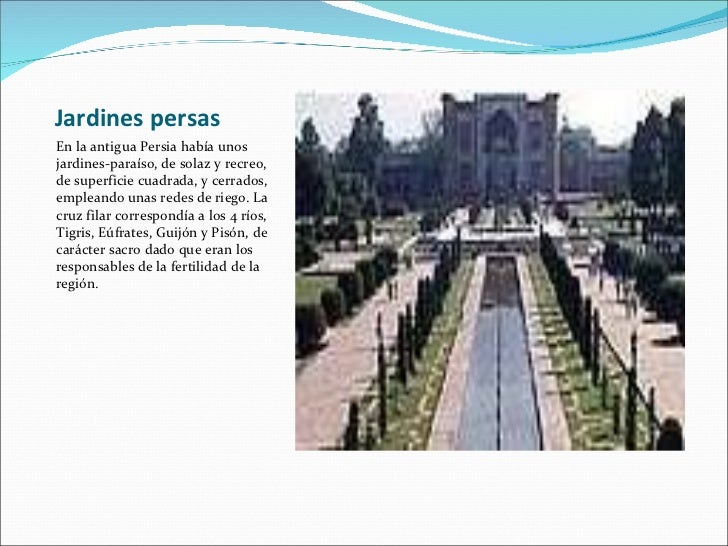 Historia de los jardines for Jarrones persas