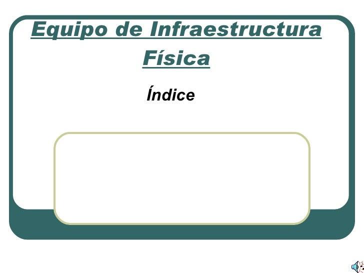 Equipo de Infraestructura Física Índice Concepto de Ordenador. Estructura del Ordenador. Funcionamiento del Ordenador. Mon...