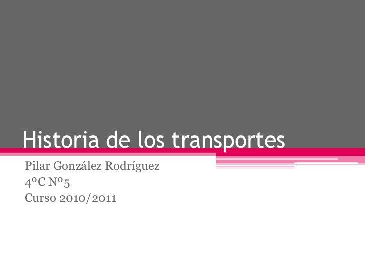 Historia de los transportes