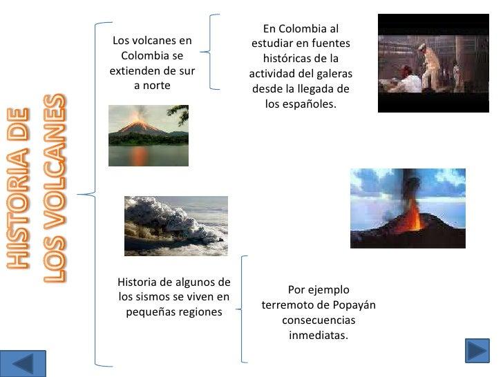 En Colombia al estudiar en fuentes históricas de la actividad del galeras desde la llegada de los españoles.<br />Los volc...