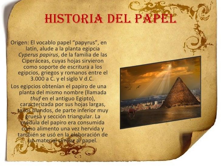 Resultado de imagen para HISTORIA DEL PAPEL