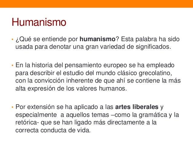 Historia del pensamiento humanismo for Que se entiende por arquitectura