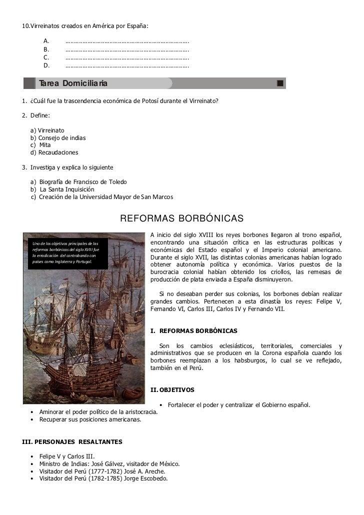 10. Virreinatos creados en América por España:          A.           ........................................................