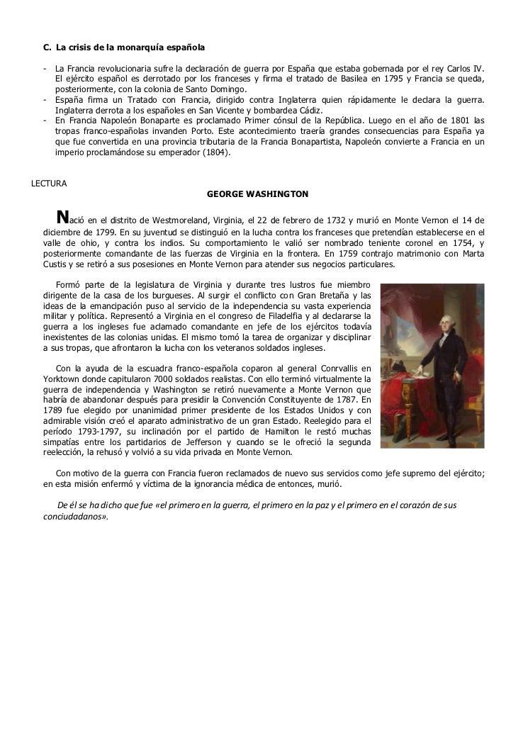 C. La crisis de la monarquía española  -   La Francia revolucionaria sufre la declaración de guerra por España que estaba ...