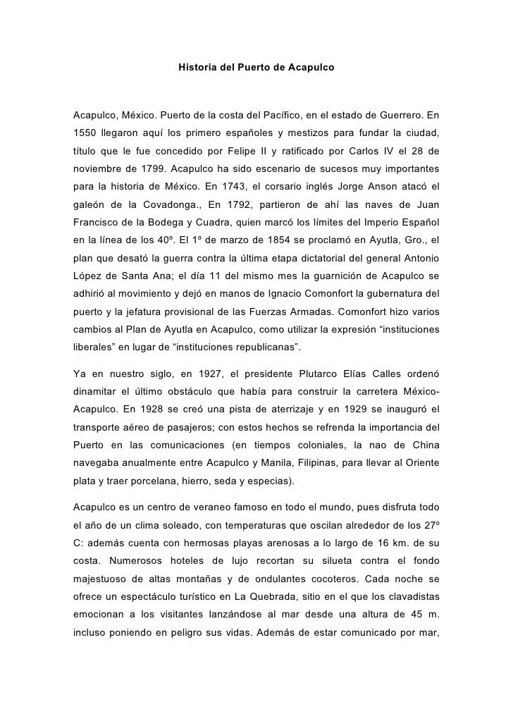 Historia del Puerto de Acapulco    Acapulco, México. Puerto de la costa del Pacífico, en el estado de Guerrero. En 1550 ll...
