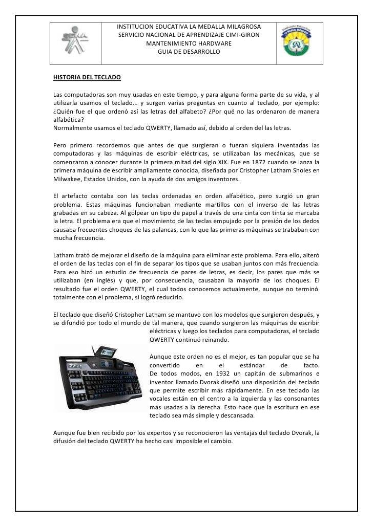 HISTORIA DEL TECLADO<br />Las computadoras son muy usadas en este tiempo, y para alguna forma parte de su vida, y al utili...