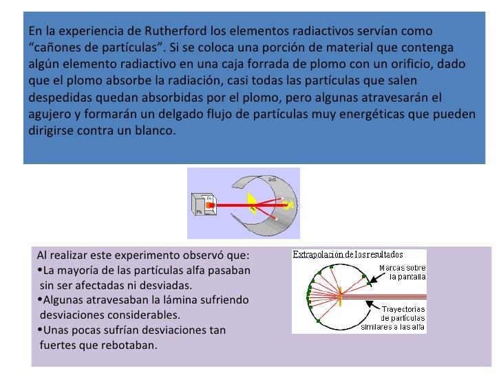 """En la experiencia de Rutherford los elementos radiactivos servían como """"cañones de partículas"""". Si se coloca una porción d..."""